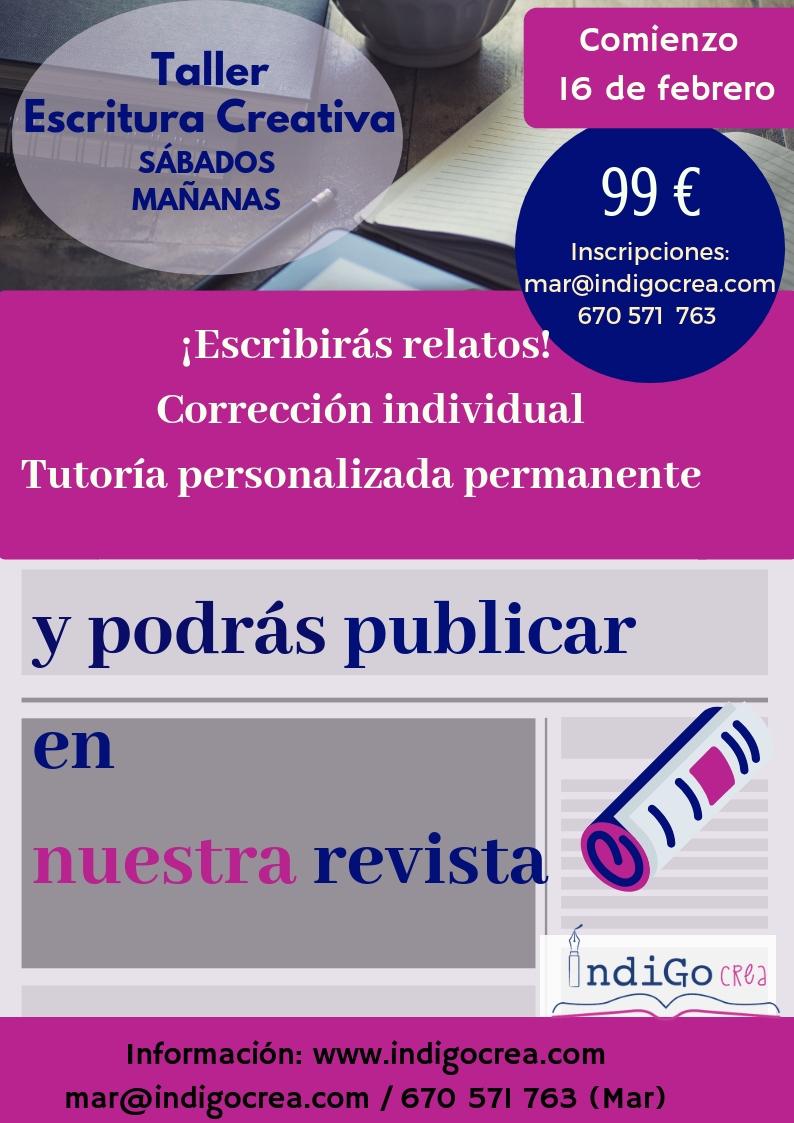 Taller Escritura Creativa en Valladolid. Nivel Inicial. Sábados mañana. ¡Comienzo 16 febrero!