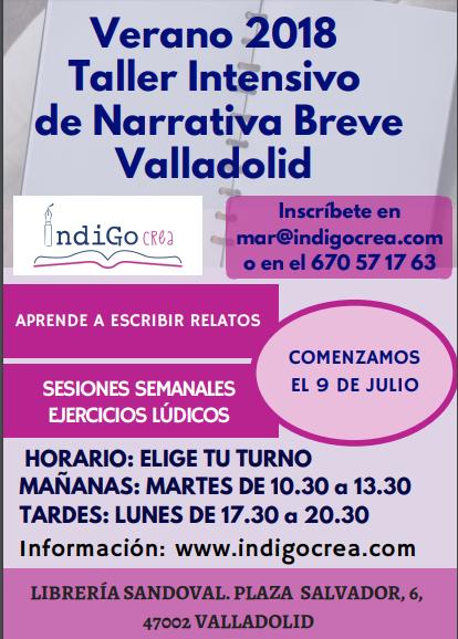 Verano. Taller Intensivo de narrativa breve en Valladolid